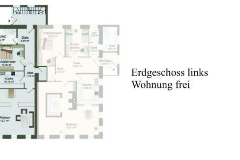 Erdgeschoss links - Wohnung frei