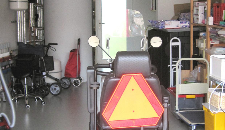 Garage mit Technikraum
